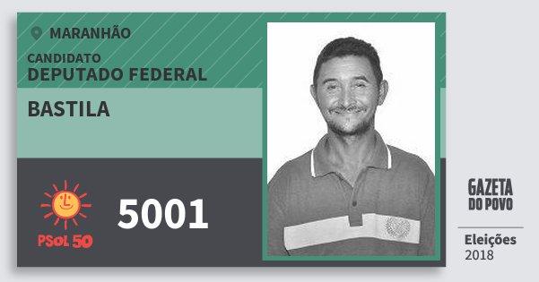 Santinho Bastila 5001 (PSOL) Deputado Federal | Maranhão | Eleições 2018