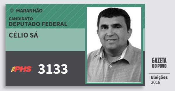 Santinho Célio Sá 3133 (PHS) Deputado Federal | Maranhão | Eleições 2018