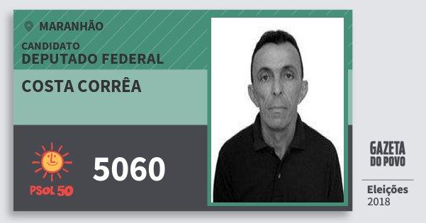 Santinho Costa Corrêa 5060 (PSOL) Deputado Federal | Maranhão | Eleições 2018
