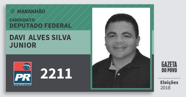 Santinho Davi  Alves Silva Junior 2211 (PR) Deputado Federal | Maranhão | Eleições 2018