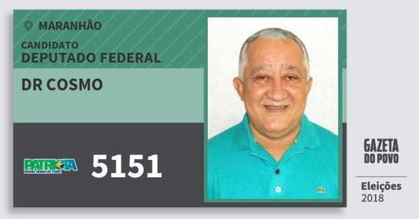 Santinho Dr Cosmo 5151 (PATRI) Deputado Federal | Maranhão | Eleições 2018