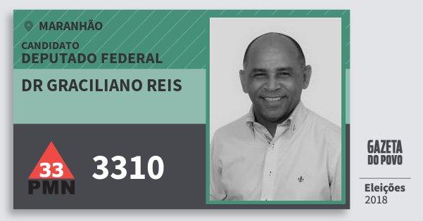 Santinho Dr Graciliano Reis 3310 (PMN) Deputado Federal | Maranhão | Eleições 2018