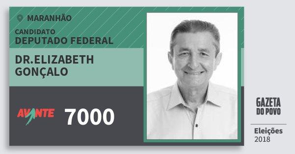 Santinho Dr.elizabeth Gonçalo 7000 (AVANTE) Deputado Federal | Maranhão | Eleições 2018