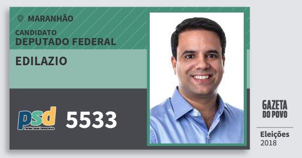 Santinho Edilazio 5533 (PSD) Deputado Federal | Maranhão | Eleições 2018