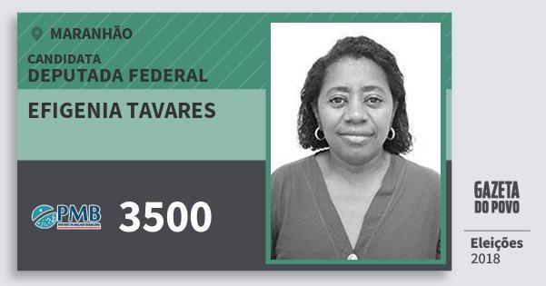 Santinho Efigenia Tavares 3500 (PMB) Deputada Federal | Maranhão | Eleições 2018