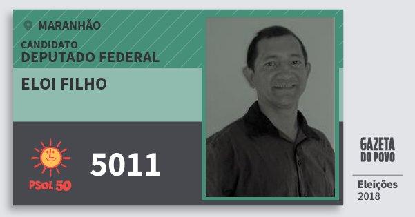 Santinho Eloi Filho 5011 (PSOL) Deputado Federal | Maranhão | Eleições 2018