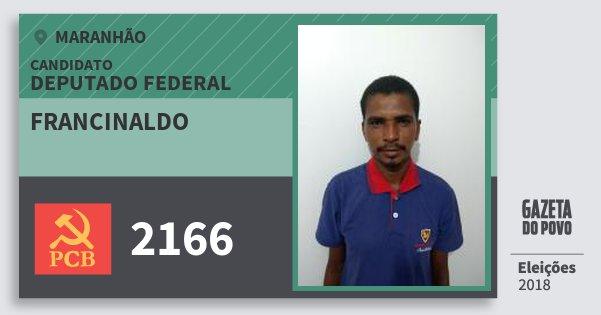 Santinho Francinaldo 2166 (PCB) Deputado Federal | Maranhão | Eleições 2018