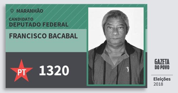 Santinho Francisco Bacabal 1320 (PT) Deputado Federal | Maranhão | Eleições 2018