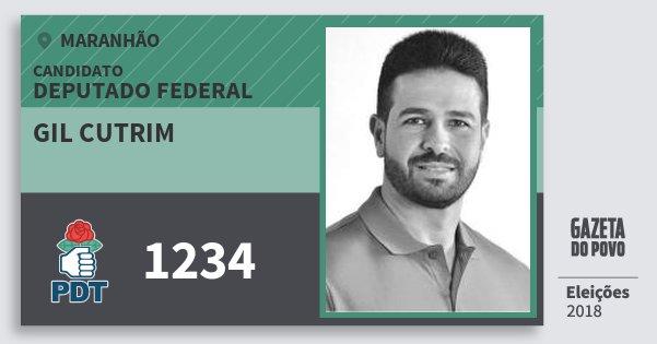 Santinho Gil Cutrim 1234 (PDT) Deputado Federal | Maranhão | Eleições 2018