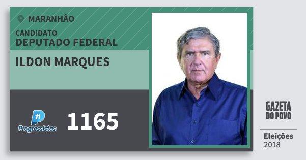 Santinho Ildon Marques 1165 (PP) Deputado Federal | Maranhão | Eleições 2018