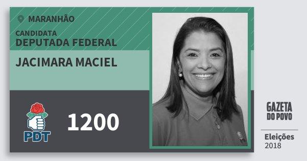 Santinho Jacimara Maciel 1200 (PDT) Deputada Federal | Maranhão | Eleições 2018