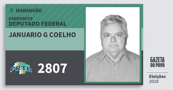 Santinho Januario G Coelho 2807 (PRTB) Deputado Federal | Maranhão | Eleições 2018