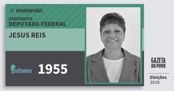 Santinho Jesus Reis 1955 (PODE) Deputada Federal | Maranhão | Eleições 2018