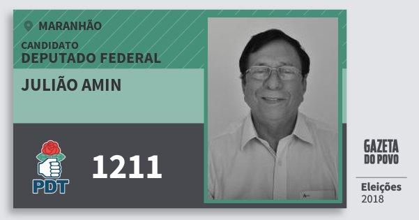 Santinho Julião Amin 1211 (PDT) Deputado Federal | Maranhão | Eleições 2018