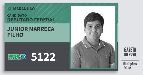 Santinho Junior Marreca Filho 5122 (PATRI) Deputado Federal | Maranhão | Eleições 2018