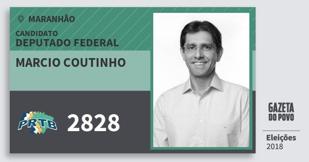 Santinho Marcio Coutinho 2828 (PRTB) Deputado Federal | Maranhão | Eleições 2018