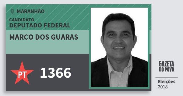 Santinho Marco dos Guaras 1366 (PT) Deputado Federal | Maranhão | Eleições 2018