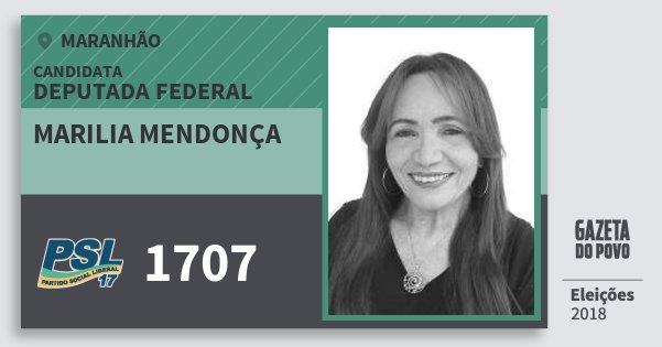 Santinho Marilia Mendonça 1707 (PSL) Deputada Federal | Maranhão | Eleições 2018