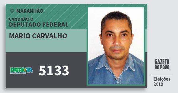 Santinho Mario Carvalho 5133 (PATRI) Deputado Federal | Maranhão | Eleições 2018