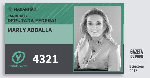Santinho Marly Abdalla 4321 (PV) Deputada Federal | Maranhão | Eleições 2018