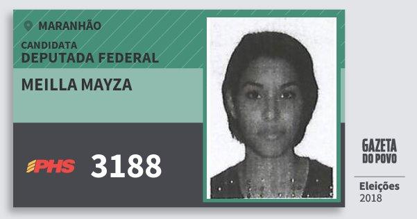 Santinho Meilla Mayza 3188 (PHS) Deputada Federal | Maranhão | Eleições 2018