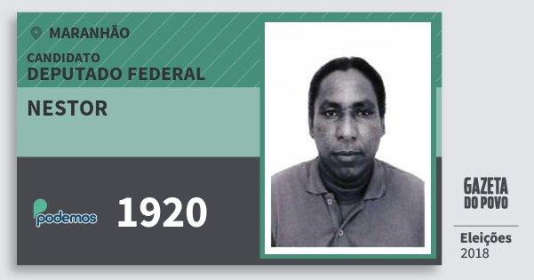 Santinho Nestor 1920 (PODE) Deputado Federal | Maranhão | Eleições 2018