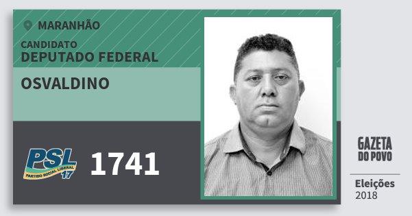 Santinho Osvaldino 1741 (PSL) Deputado Federal | Maranhão | Eleições 2018