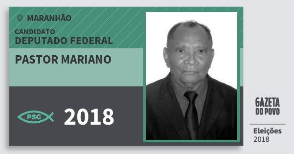 Santinho Pastor Mariano 2018 (PSC) Deputado Federal | Maranhão | Eleições 2018