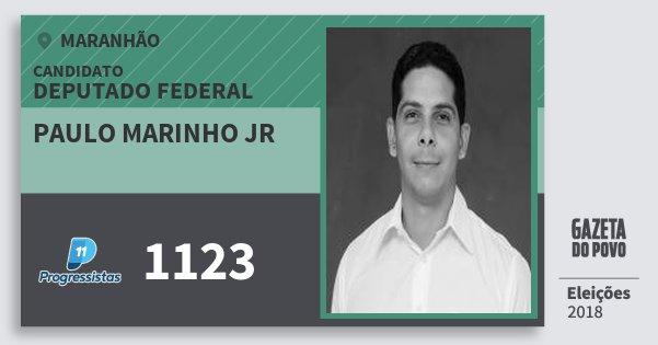 Santinho Paulo Marinho Jr 1123 (PP) Deputado Federal | Maranhão | Eleições 2018