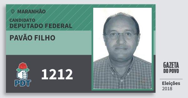 Santinho Pavão Filho 1212 (PDT) Deputado Federal | Maranhão | Eleições 2018