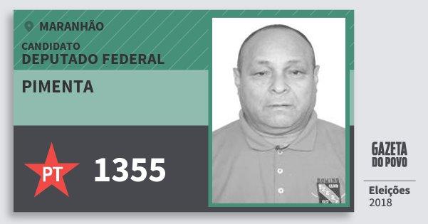 Santinho Pimenta 1355 (PT) Deputado Federal | Maranhão | Eleições 2018