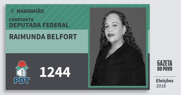 Santinho Raimunda Belfort 1244 (PDT) Deputada Federal | Maranhão | Eleições 2018