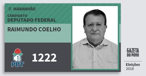 Santinho Raimundo Coelho 1222 (PDT) Deputado Federal | Maranhão | Eleições 2018