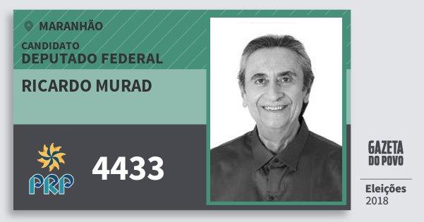Santinho Ricardo Murad 4433 (PRP) Deputado Federal | Maranhão | Eleições 2018