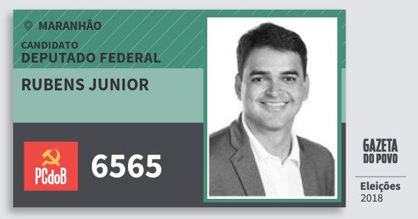 Santinho Rubens Junior 6565 (PC do B) Deputado Federal | Maranhão | Eleições 2018