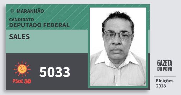 Santinho Sales 5033 (PSOL) Deputado Federal | Maranhão | Eleições 2018