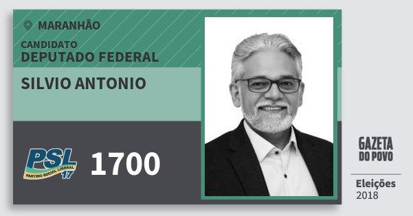 Santinho Silvio Antonio 1700 (PSL) Deputado Federal | Maranhão | Eleições 2018