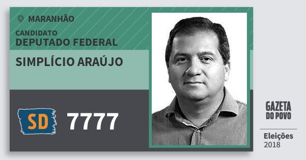 Santinho Simplício Araújo 7777 (SOLIDARIEDADE) Deputado Federal | Maranhão | Eleições 2018