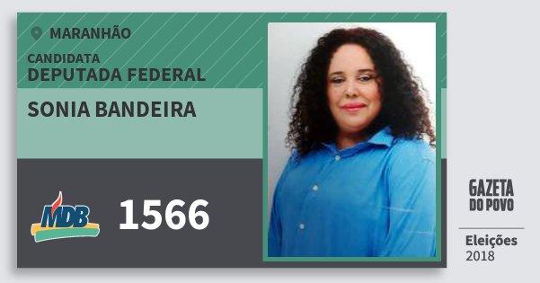 Santinho Sonia Bandeira 1566 (MDB) Deputada Federal | Maranhão | Eleições 2018