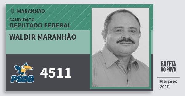 Santinho Waldir Maranhão 4511 (PSDB) Deputado Federal | Maranhão | Eleições 2018