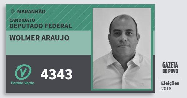 Santinho Wolmer Araujo 4343 (PV) Deputado Federal | Maranhão | Eleições 2018