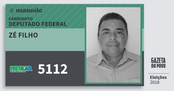 Santinho Zé Filho 5112 (PATRI) Deputado Federal | Maranhão | Eleições 2018