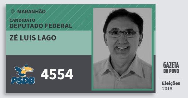 Santinho Zé Luis Lago 4554 (PSDB) Deputado Federal | Maranhão | Eleições 2018