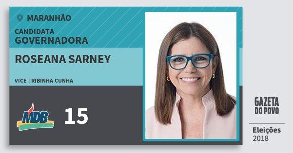 Santinho Roseana Sarney 15 (MDB) Governadora | Maranhão | Eleições 2018
