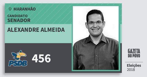 Santinho Alexandre Almeida 456 (PSDB) Senador   Maranhão   Eleições 2018
