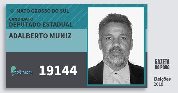 Santinho Adalberto Muniz 19144 (PODE) Deputado Estadual | Mato Grosso do Sul | Eleições 2018
