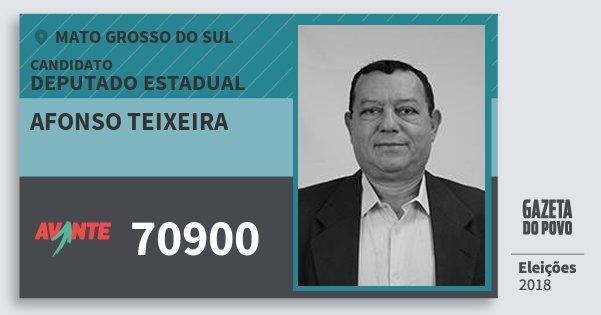 Santinho Afonso Teixeira 70900 (AVANTE) Deputado Estadual | Mato Grosso do Sul | Eleições 2018