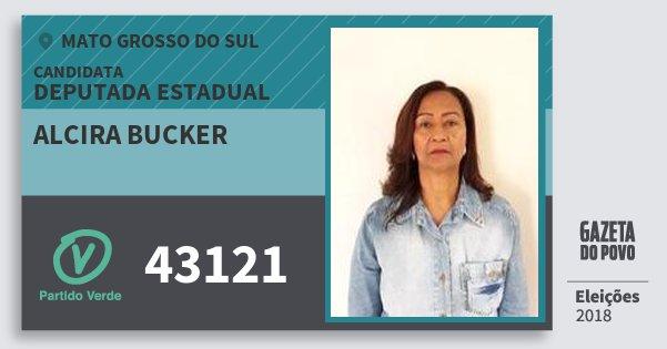 Santinho Alcira Bucker 43121 (PV) Deputada Estadual | Mato Grosso do Sul | Eleições 2018