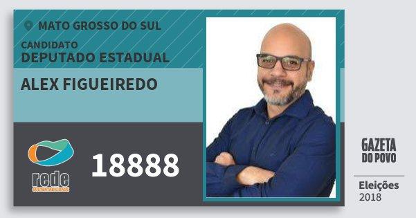 Santinho Alex Figueiredo 18888 (REDE) Deputado Estadual | Mato Grosso do Sul | Eleições 2018