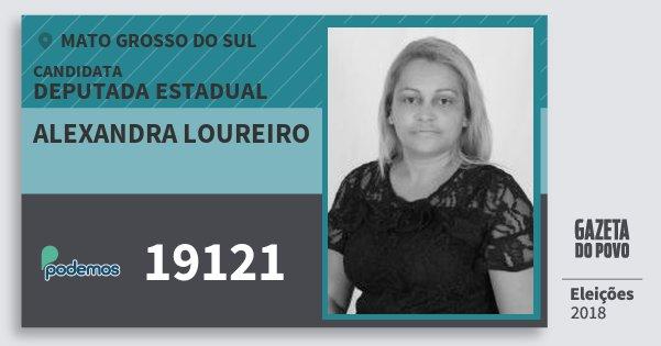 Santinho Alexandra Loureiro 19121 (PODE) Deputada Estadual | Mato Grosso do Sul | Eleições 2018